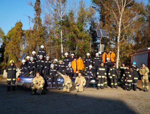 Gemeinsame Übung dreier Feuerwehrjugendgruppen