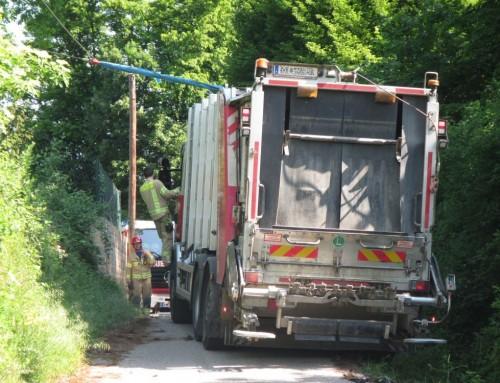 Bergung eines Müllwagens