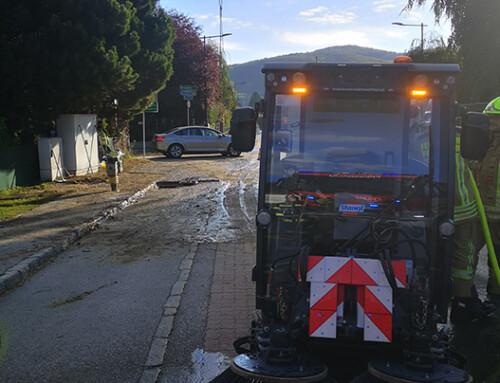 Straßenreinigung nach Wassergebrechen